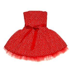 NWOT Jessica McClintock Strapless Polka Dot Dress